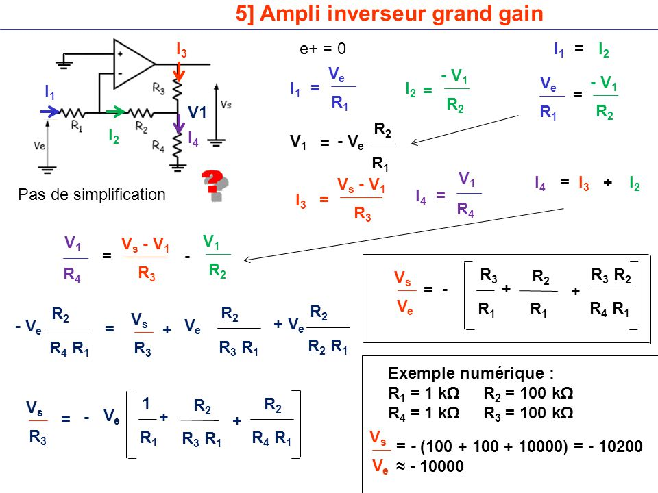 5] Ampli inverseur grand gain